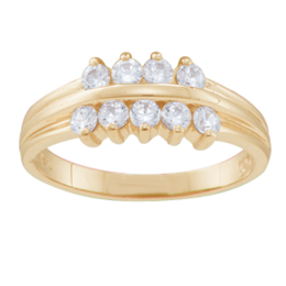 Yellow gold Mothers Ring Style 45 with 9 Stones
