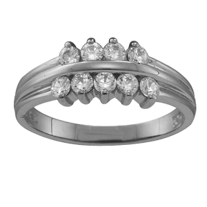 White gold Mothers Ring Style 45 with 9 Stones