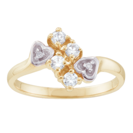 Yellow gold Mothers Ring Style 46 Birthstone Ring with 4 Stones