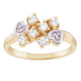 Yellow gold Mothers Ring Style 46 with 6 Stones