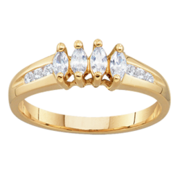 Yellow gold Mothers Ring Style 95 with 4 Stones