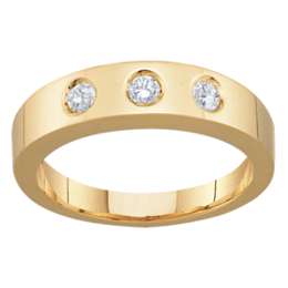 Yellow gold Mothers Ring Style 96 with 3 Stones