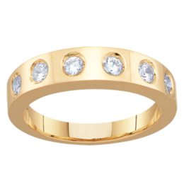 Yellow gold Mothers Ring Style 96 with 6 Stones
