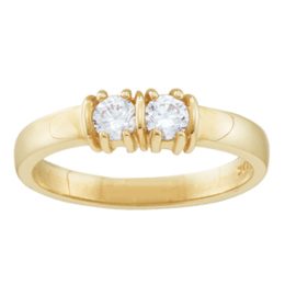 Yellow gold Mothers Ring Style 109 with 2 Stones