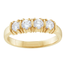 Yellow gold Mothers Ring Style 109 Birthstone Ring with 4 Stones