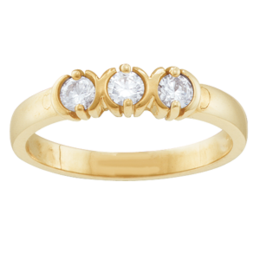 Yellow gold Mothers Ring Style 110 with 3 Stones