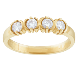Yellow gold Mothers Ring style 110 Birthstone Ring with 4 stones
