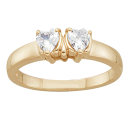 Yellow gold Mothers Ring Style 115 with 2 Stones