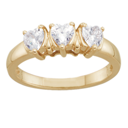 Yellow gold Mothers Ring Style 115 with 3 Stones