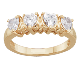 Yellow gold Mothers Ring Style 115 with 4 Stones