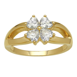 Yellow gold Mothers Ring Style 284 with 4 Stones