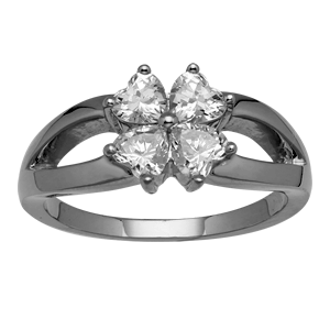 White gold Mothers Ring Style 284 with 4 Stones