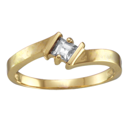 Yellow gold Mothers Ring Style 129 with 1 Stones
