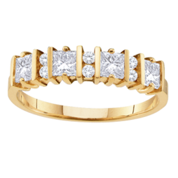Yellow gold Mothers Ring Style 67 with 4 Stones
