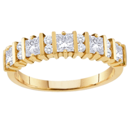 Yellow gold Mothers Ring Style 67 with 5 Stones