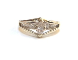 14K Two Tone Multi Stone Diamond Fancy Ring image 2