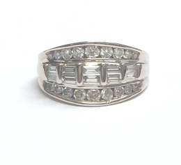 14K White Gold Diamond Fancy Band image 2