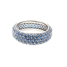 14K White Gold Sapphire Eternity Band image 2