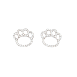Diamond Paw Print Earrings image 2