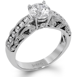 Simon G Diamond Engagement Ring TR634 image 2