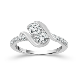 Two Diamond Ring 1 ct image 2