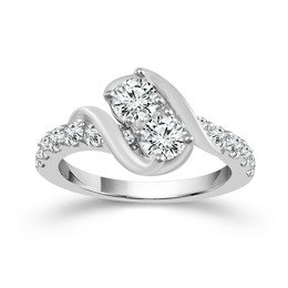 Two Diamond Ring 1 1/2 ct image 2