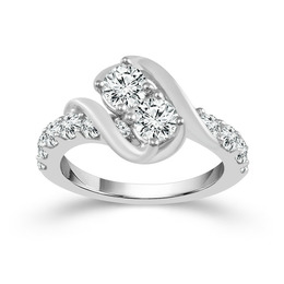 Two Diamond Ring 2 ct image 2