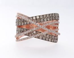 Effy Cognac and White Diamond Fashion Ring image 2