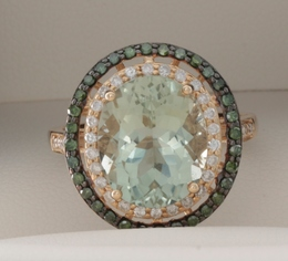 Effy Green Amethyst Diamond Ring image 2