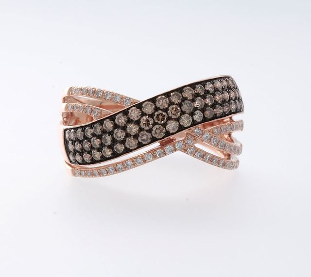 Cognac and White Diamond Ring By Effy image 2