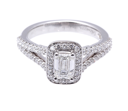 Emerald Cut Diamond Fancy Ring image 2
