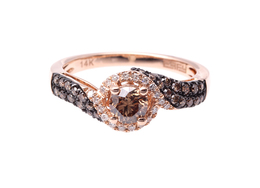 Cognac Diamond Ring image 2