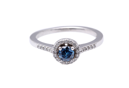 Blue Diamond Ring  image 2