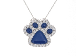 Crystal Paw Pendant
