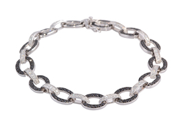Black and White Diamond Bracelet image 2
