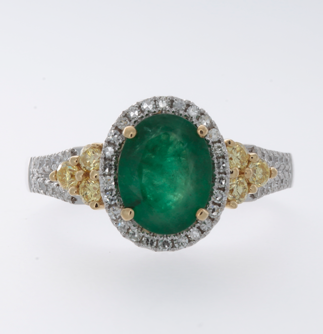 Effy Emerald Diamond Ring image 2