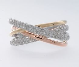 14K Three Tone Fashion Ring By Effy image 2