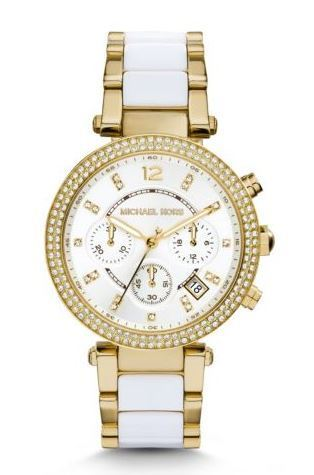 Michael Kors Parker Pavé Gold-Tone Acetate Watch image 2