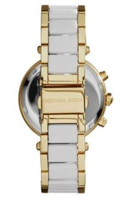 Michael Kors Parker Pavé Gold-Tone Acetate Watch image 3