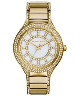 Michael Kors Kerry Pavé-Embellished Gold-Tone Watch image 2
