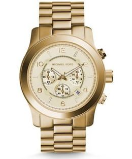 Michael Kors Runway Oversized Gold-Tone Stainless Steel Watch image 2