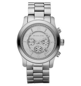 Michael Kors Runway Oversized Silver-Tone Stainless Steel Watch image 2