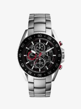 Michael Kors Jetmaster Silver-Tone Stainless Steel Watch image 2