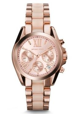 Michael Kors Mini Bradshaw Acetate And Rose Gold-Tone Watch image 1