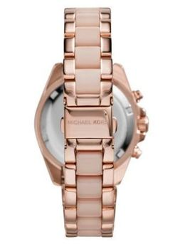 Michael Kors Mini Bradshaw Acetate And Rose Gold-Tone Watch image 3