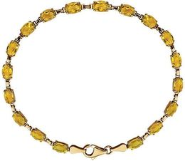 "14kt Yellow Gold Citrine 7"" Bracelet image 2"