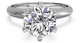5 Carat Round Diamond Solitaire Ring image 2