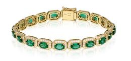 Simon G 18kt Yellow Gold Emerald Bracelet image 2