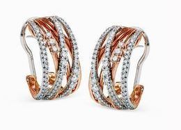 Simon G 18kt White & Rose Gold Earrings image 2