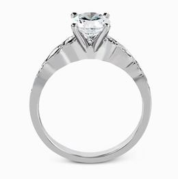 Simon G 18kt White Gold Engagement Ring & Wedding Band Set image 3